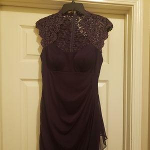 Ladies purple dress w/ sheer lace